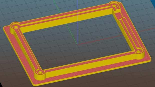 Circuit Board Holder - Slic3r preview