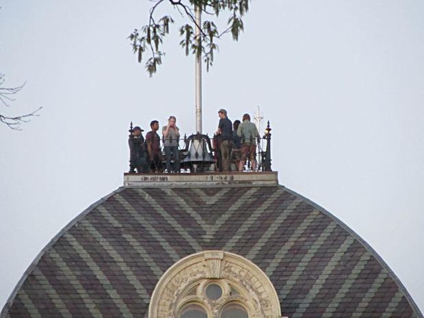 Bell Ringers atop Vassar Old Main