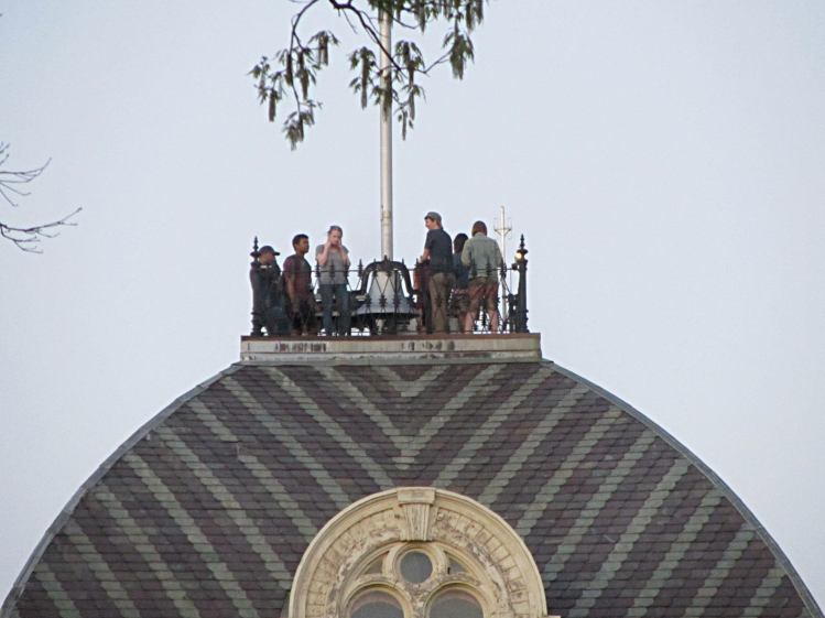 Bell Ringers atop Vassar Old Main