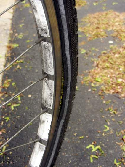 Michelin Pilot City Protek tire - blown bead