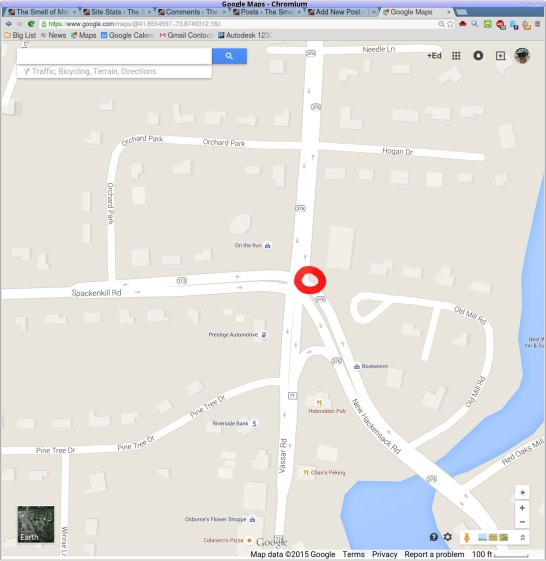 Potholes - Red Oaks Mill intersection - map