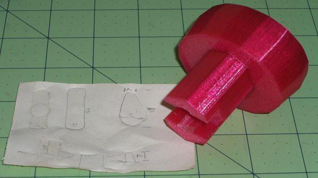Hose Valve Knob - with measurements
