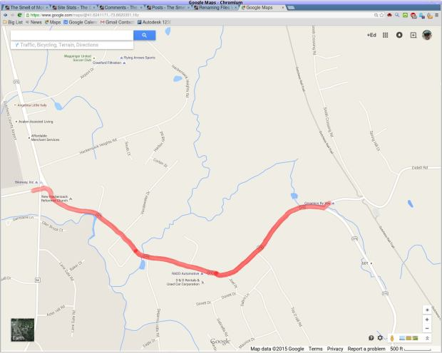 Rt 376 - Diddell to New Hackensack - map