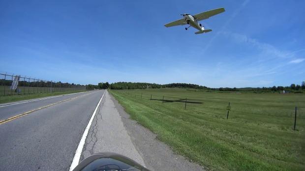 Rt 376 - Dutchess Airport - landing