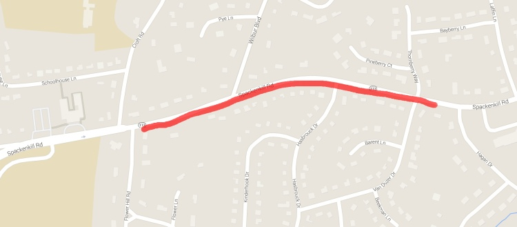 Spackenkill Rd EB - Croft to Hagan - map