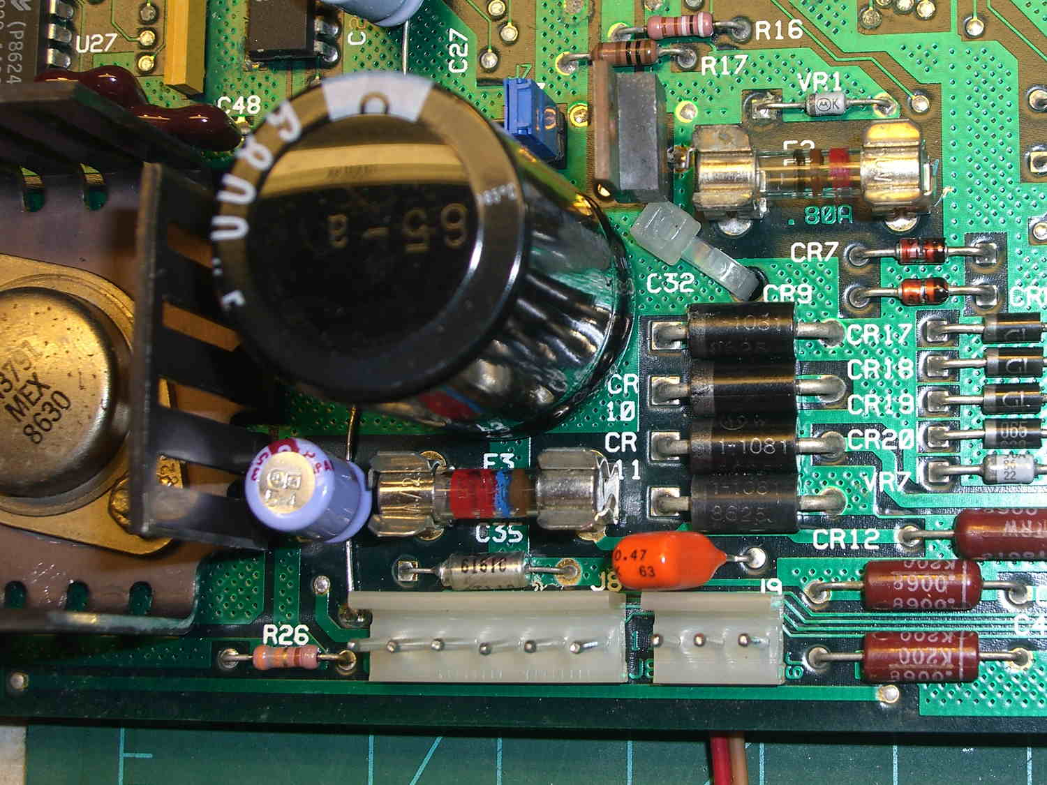 Hp 7475a Plotter Led Lighting The Smell Of Molten Projects In Circuit Board Power Tap Pcb Top