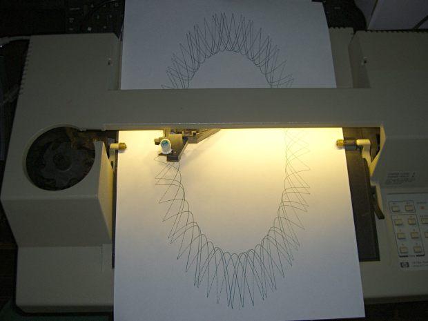 HP 7475A Plotter - LED paper illumination