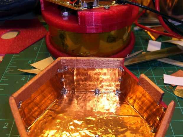 Electrometer amp - shield - mesh soldering