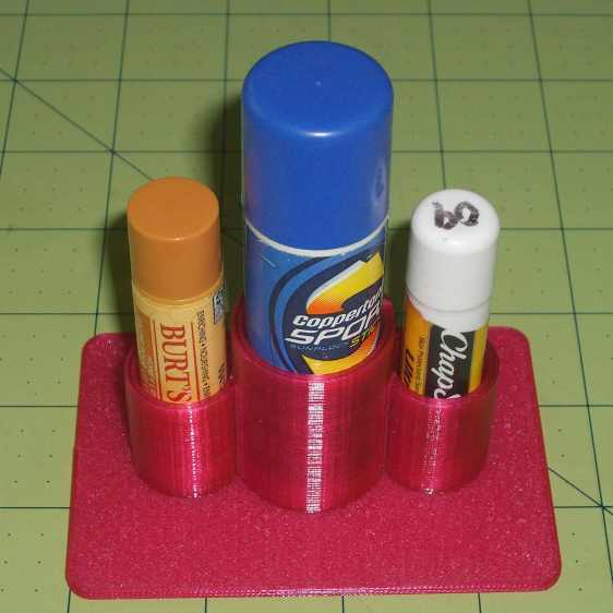 Lip Balm Holder - in action