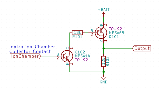 Current Amp - Dual Darlington - Schematic