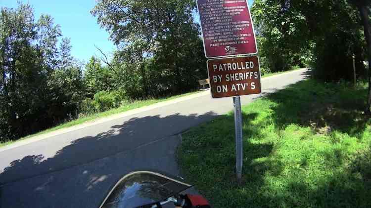 DCRT at Van Wyck Rd - ATV Patrol sign