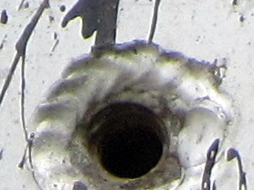 Metal scrap trailer - Welded hole