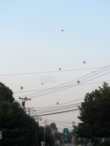 Hot Air Balloons over Red Oaks Mill