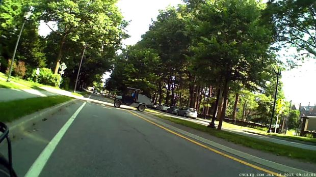 Raymond Avenue 2015-07-14 - Vassar Golf Cart - crossing