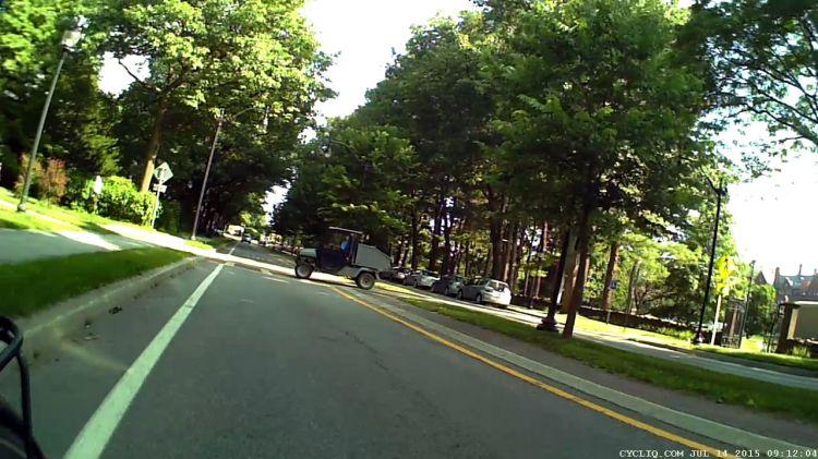 Raymond Avenue 2015-07-14 - Vassar Golf Cart - crossing