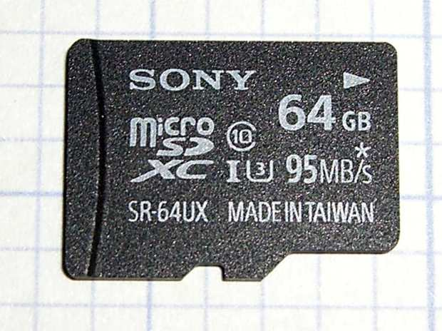 Sony SR-64UX 64 GB MicroSDXC card