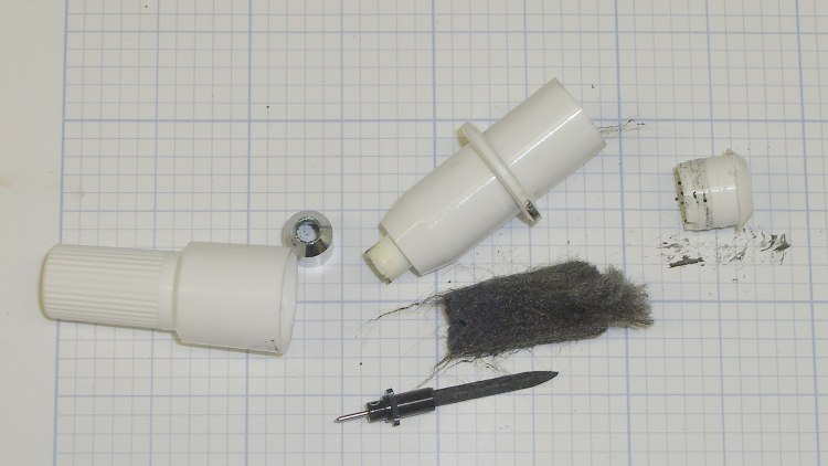 HP7475A Plotter - ceramic pen - disassembled