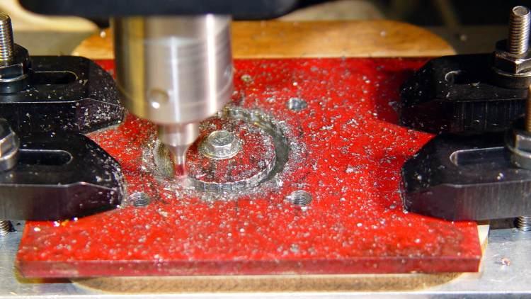 Motor Mount - helix milling