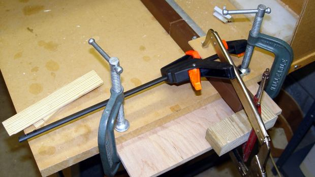 Sears Sewing Table - leg clamps