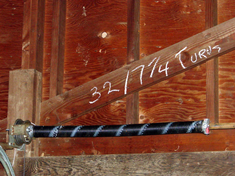 dsc08582 garage door torsion spring installed