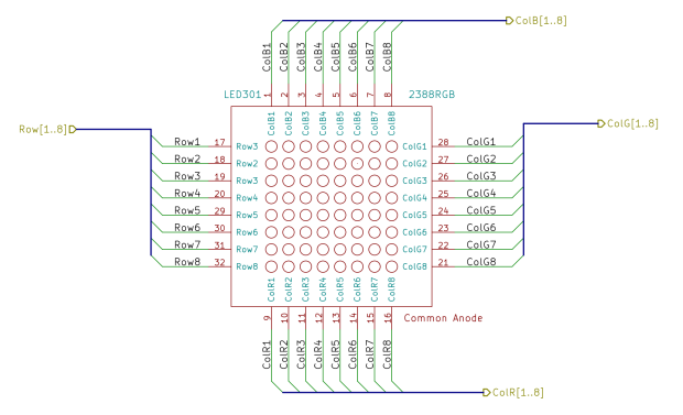 High Speed Randoms - Schematic - 8x8 RGB LED Matrix
