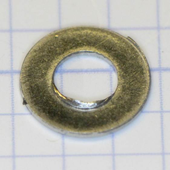 M3 washer with burrs
