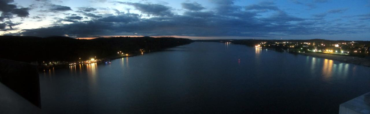 Walkway Over the Hudson - Sturgeon Moonwalk - North Panorama - 2015-08-28