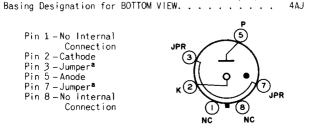 0D3 Voltage Regulator Tube - pinout