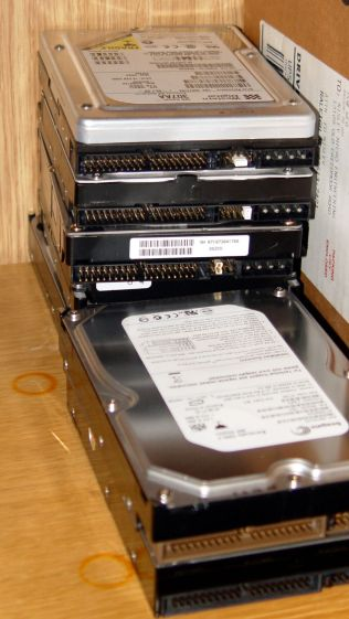 Scrubbed hard drives