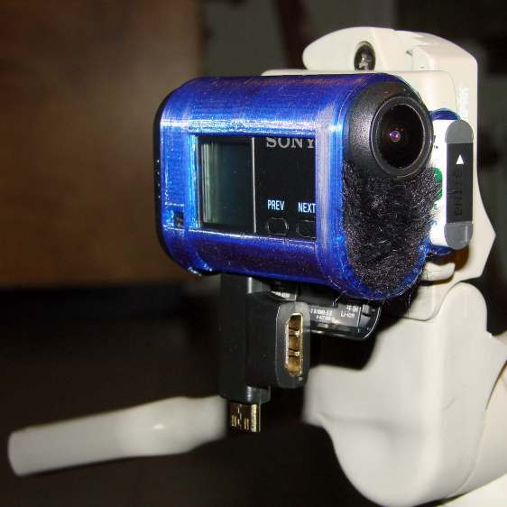 Sony HDR-AS30V holder - on tripod