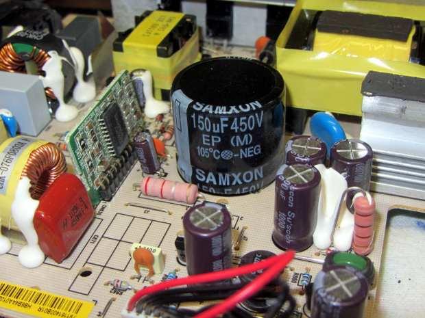 HP 2408 monitor power supply - HV cap