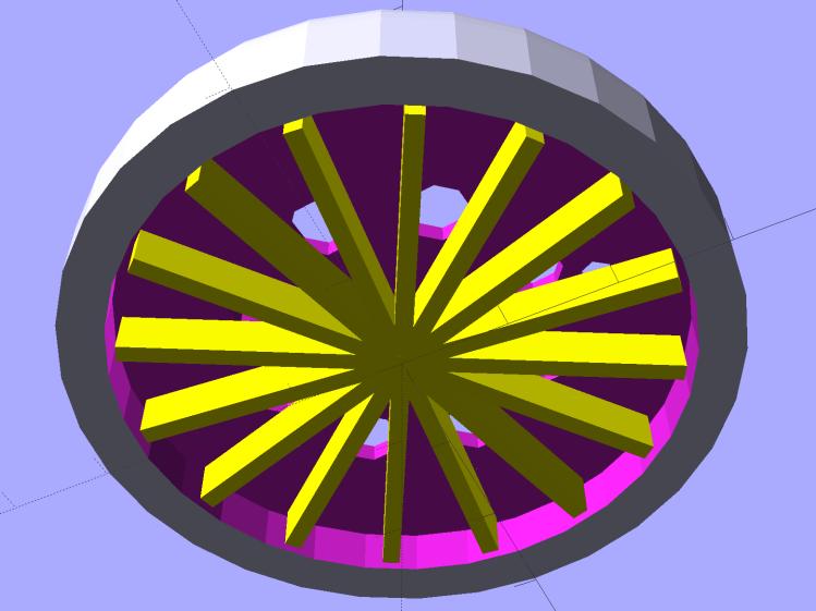 Ring Light Mount - solid model - bottom
