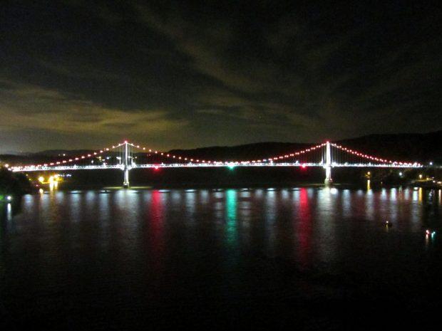 Fireworks Moonwalk - Poughkeepsie Bridge