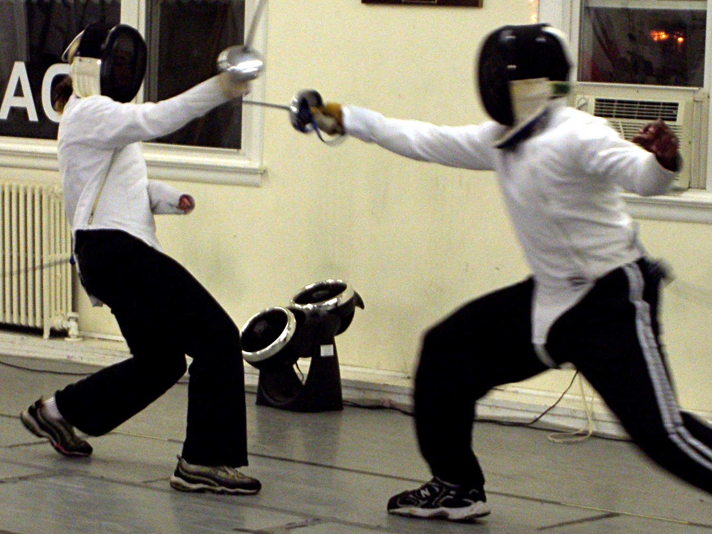 Blue Gauntlet Fencing Helmet Ear Grommet | The Smell of