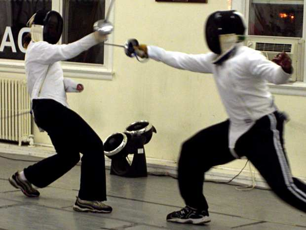 Fencing - taking a hit
