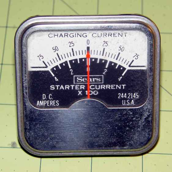 Sears 244-2145 Starter Ammeter - front
