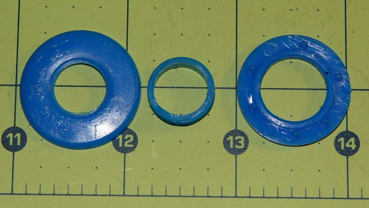 Blue Gauntlet M003-BG Helmet - broken ear grommet