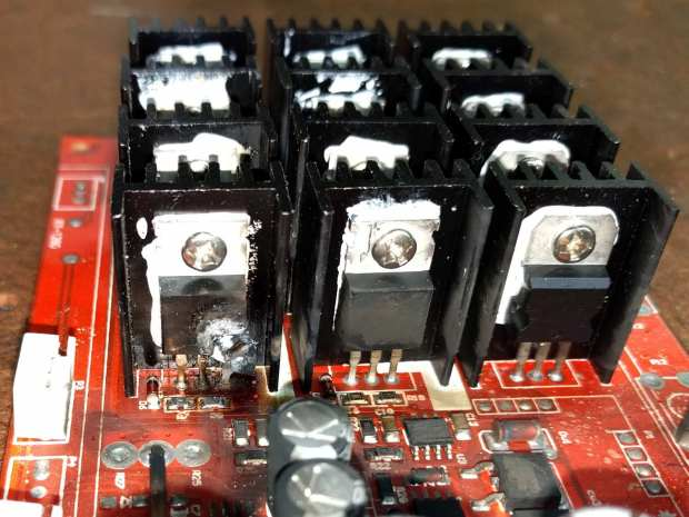 Motor Controller - exploded MOSFET