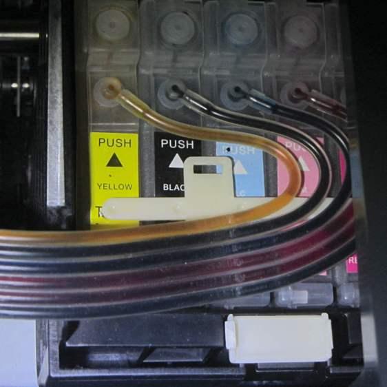 Epson R380 CISS hose clamp - broken
