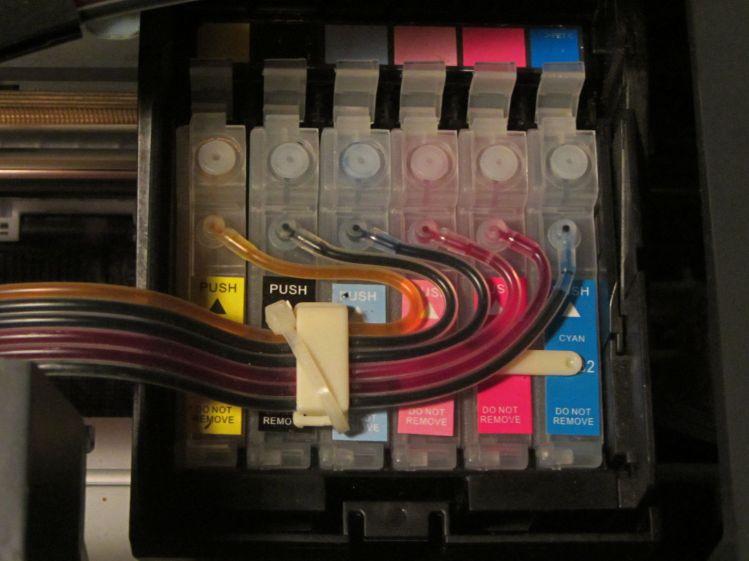 Epson R380 CISS hose clamp - fixed