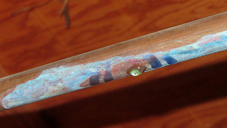 Copper pipe corrosion pinhole - 2