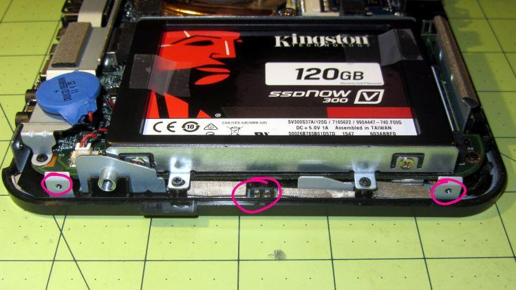 Lenovo Q150 - case latch screws - bottom