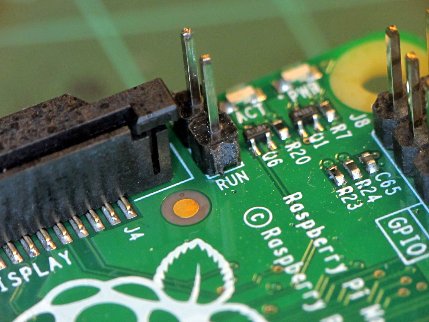 Raspberry Pi Model B+ Reset Connector   The Smell of Molten Projects