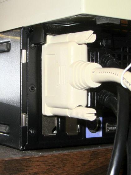 SCSI card bracket fix - installed