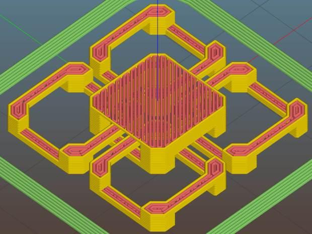Slic3r 7c8b710 - diagonal bridging