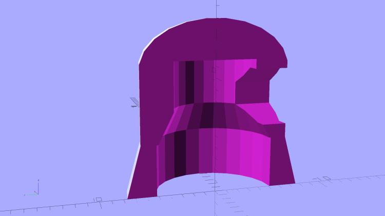 Vacuum Tube Lights - cap solid model - section