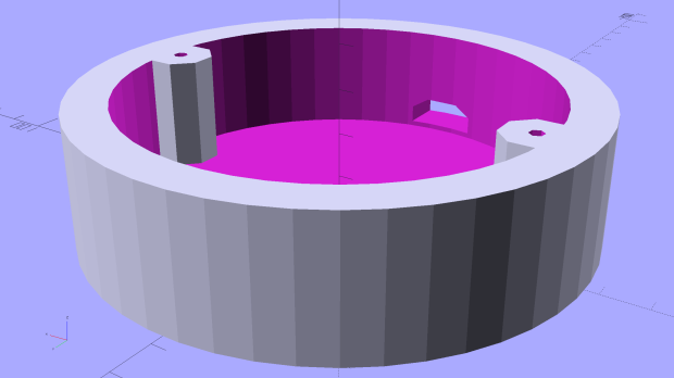 Vacuum Tube Lights - lamp base solid model