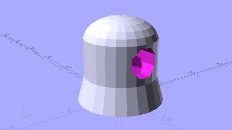 Vacuum Tube Lights - cap solid model - Overview