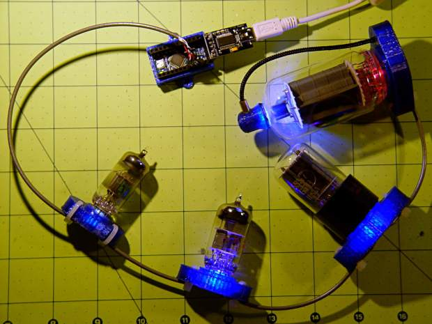 Vacuum Tube LEDs - test lashup
