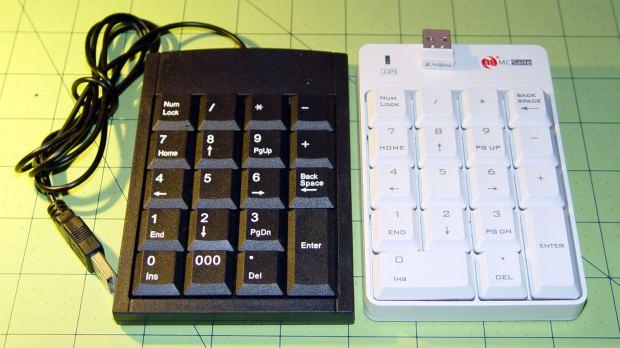 Numeric keypads